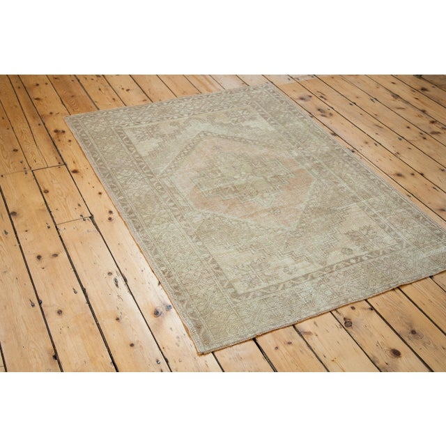 Image of Distressed Oushak Rug - 3′9″ × 4′8″