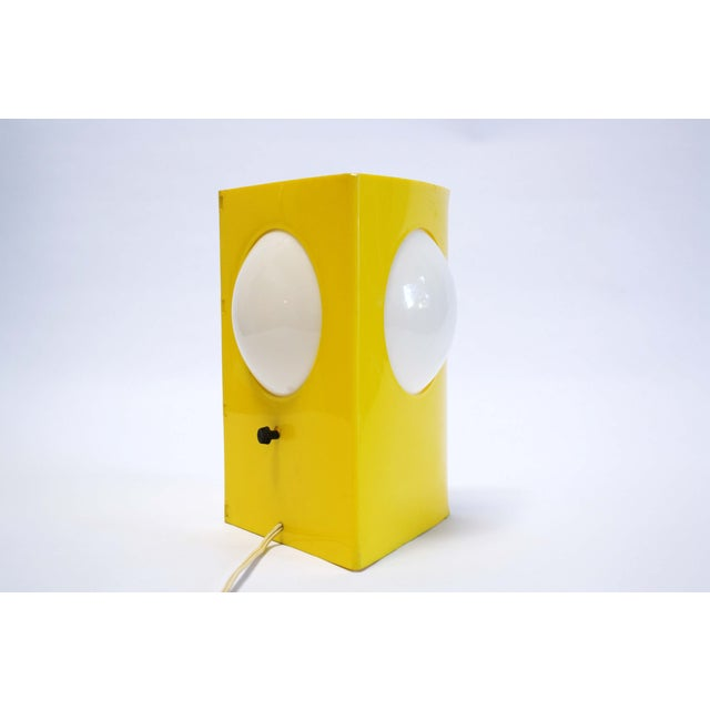 Mid-Century Mod Plastic Triangle Lamp - Image 10 of 10