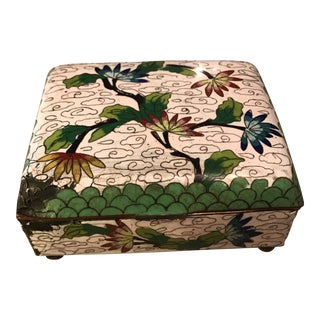 Vintage Asian Cloisonne Enamel Trinket Box