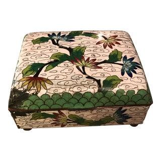 Vintage Asian Cloisonne Enamel Trinket Box
