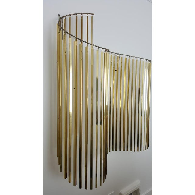 Curtis Jere Kinetic Wave Form Chrome & Brass Wall Sculpture - Image 9 of 11