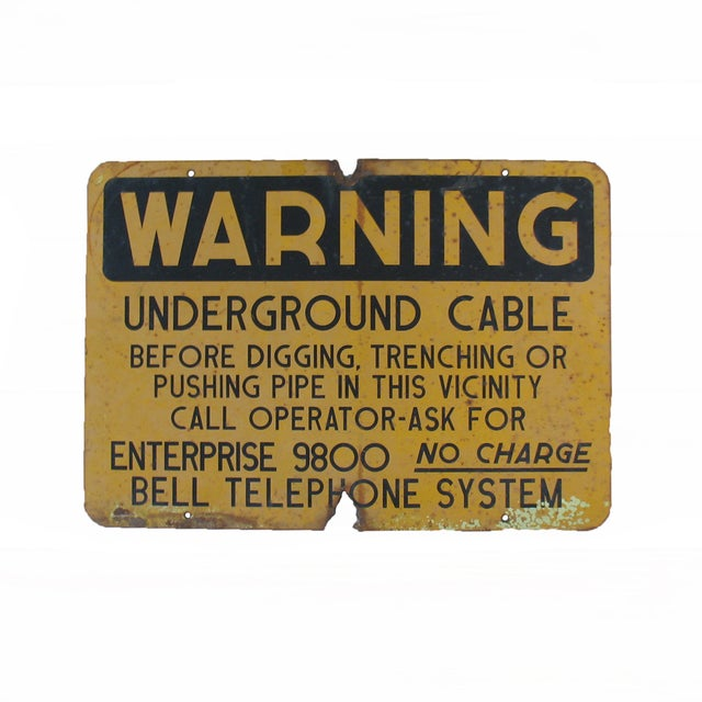 Vintage Bell Telephone Warning Sign - Image 1 of 5