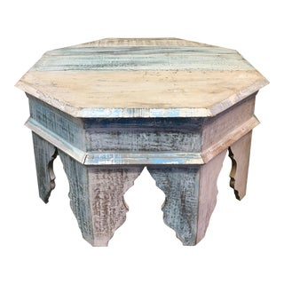 Sunrise Home Custom Wash Moroccan Style Octagonal Side Table
