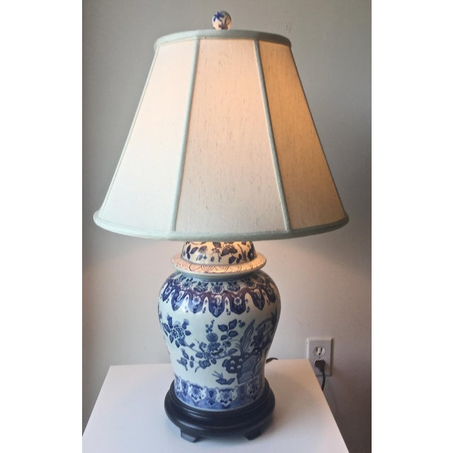 Chinese Blue White Ginger Jar Lamp And Shade Chairish