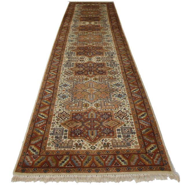 RugsinDallas Hand Knotted Persian Style Runner - 2′6″ × 10′1″ - Image 2 of 2