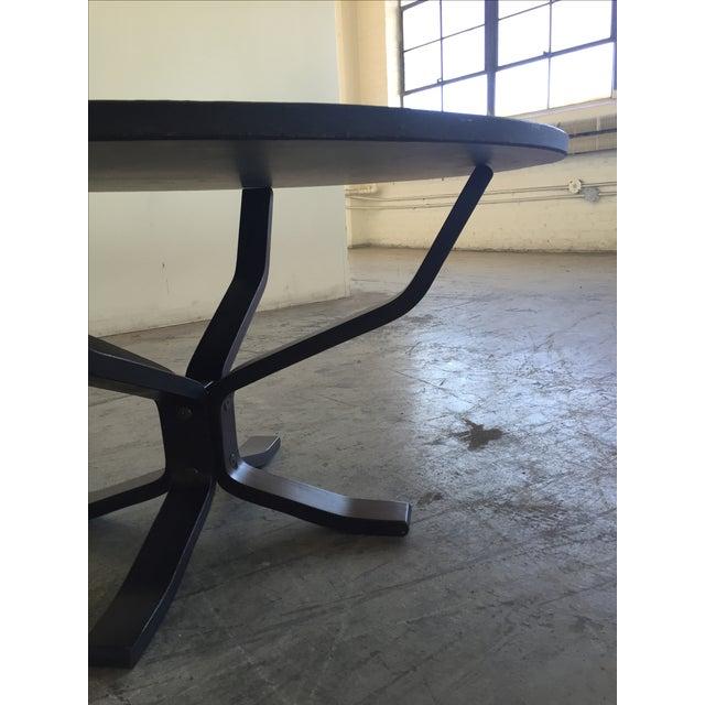 Mid Century Modern Slate Coffee Table - Image 5 of 6