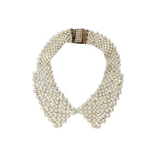 50s Pearl Collar Necklace