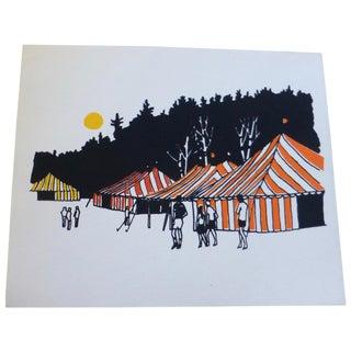 """Calvin Libby """"Day at the Fair"""" Modern Art Print"""