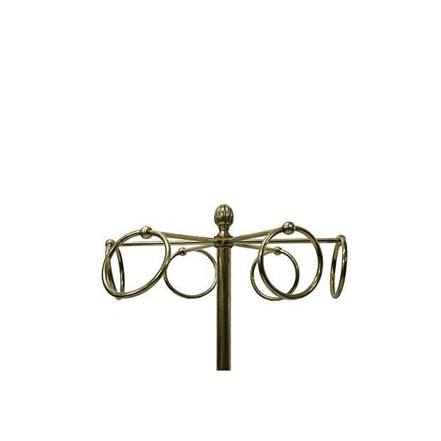Vintage Brass Coat Rack - Image 2 of 3