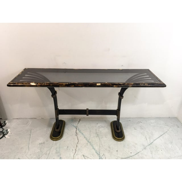 Maitland Smith Horn & Brass Console Table - Image 2 of 8