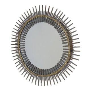 Handmade Brutalist Sunburst Mirror by Bela