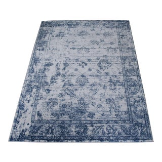 Modern Blue Distressed Rug - 5' x 8'