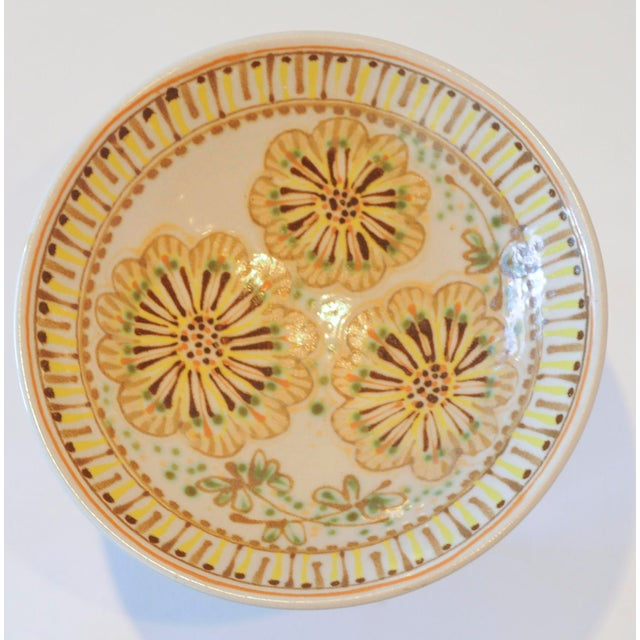Mid-Century Janet Rothman Floral Bowl - Image 6 of 11