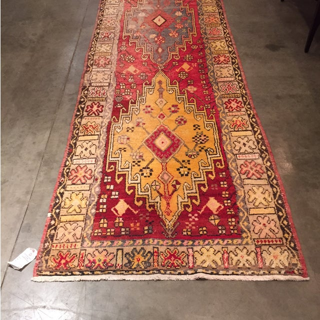 "Image of Vintage Turkish Runner - 3'8"" X 10'"