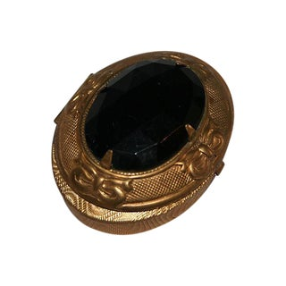 Black Oval French Inspired Vintage Box