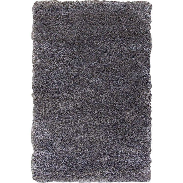 "Dark Gray and Charcoal Shag Rug - 5'4 ""x7'8'' - Image 1 of 6"