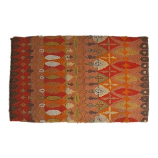 Mexican Handwoven Wool Rug - 4′1″ × 6′7″