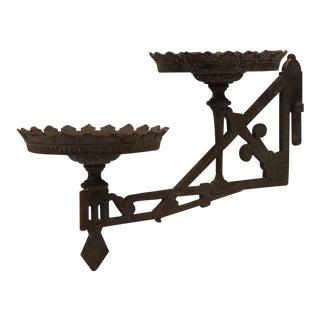 Victorian Cast Iron Kerosene Oil Lamp Arm