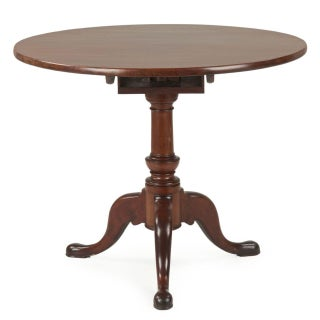 American Queen Anne Mahogany Tilt Top Table, North Carolina, Circa 1750-80