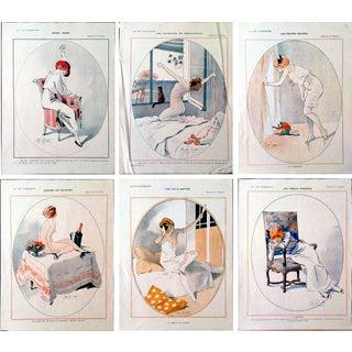 1913 La Vie Parisienne Prints by Prejelan - Set of 6