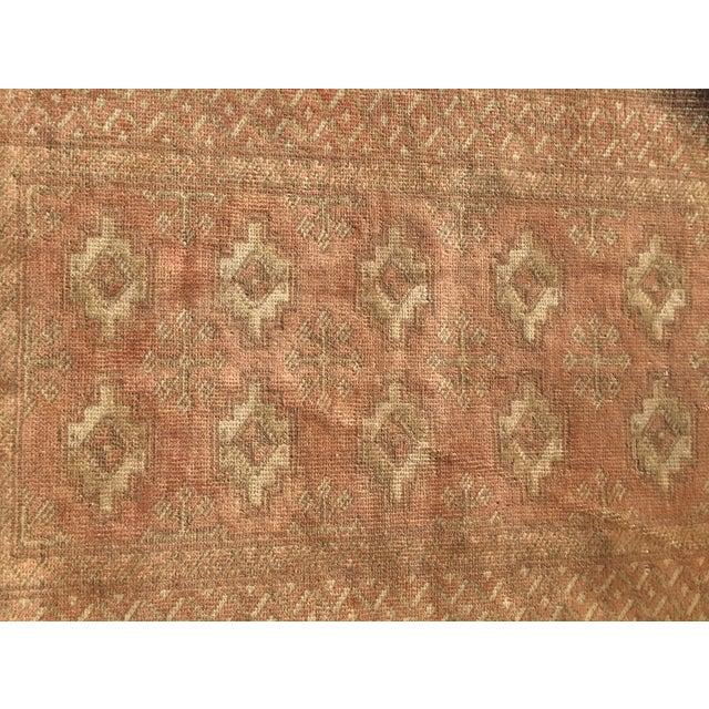 "Vintage Turkaman Brown Persian Rug - 2' x 2'11"" - Image 5 of 8"