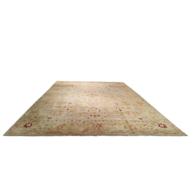 11′8″ × 18′2″ Traditional Hand Made Knotted Rug - Size Cat. 12x18 - Image 1 of 4