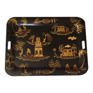 Chinoiserie Tole Painted Tray