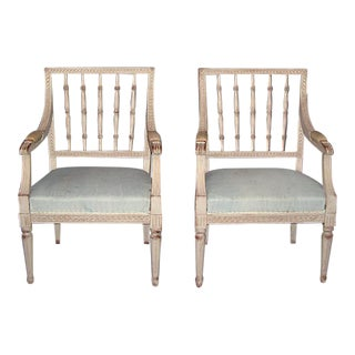 Pair of Spindle Back Armchairs (#74-08)