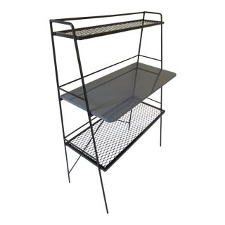 Mid Century Painted Steel Etagere/Shelving Unit