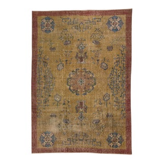 Vintage Turkish Art Deco Rug- 6′3″ × 8′11″