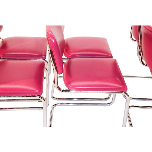 Loewenstein Mid-Century Chrome Cantilever Chairs - Set of 6 - Image 4 of 9