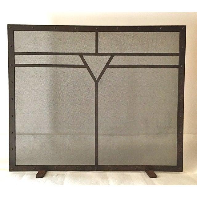 Designer Wrought Iron Fireplace Screen Chairish