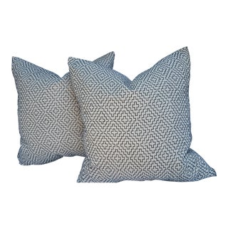 Over Stitched Linen pillows