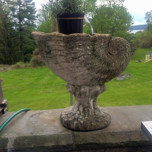 Large Antique Cornucopia Shaped Garden Planter - Image 2 of 10