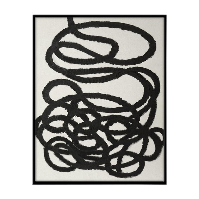 """Abstract Squiggle No. 2 Original Painting - 40"""" x 50"""" - Image 1 of 5"""