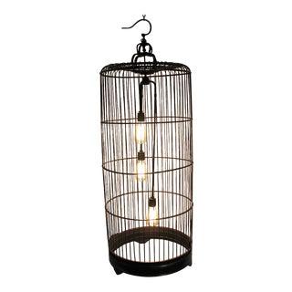 Vintage Bamboo Bird Cage Lantern