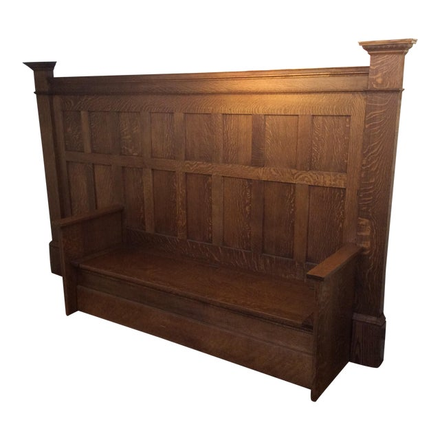 Vintage Sawn Oak Bench - Image 1 of 11