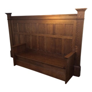 Vintage Sawn Oak Bench