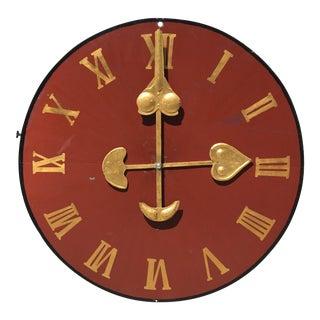 Vintage Metal Decorative Clock Face