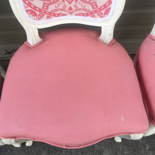 Vintage French Style Side Chairs - Set of 4 - Image 5 of 11