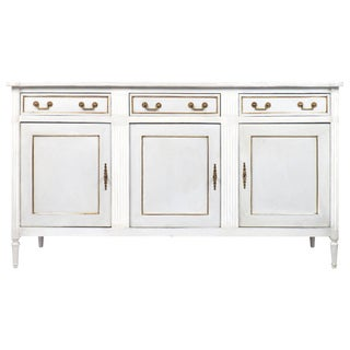 French Louis XVI Style Painted Mahogany Buffet