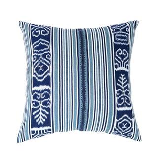 Guatemalan Indigo & Teal Ikat Pillow
