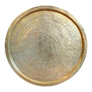 Large, Round, Bohemian Brass Tray