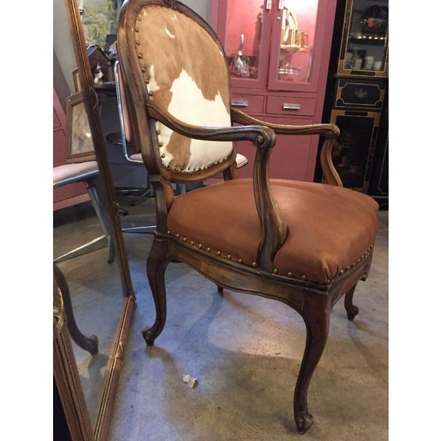 1930s Re-Upholstered Cowhide Leather Chairs - Image 7 of 11