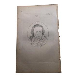 1804 Antique Physiognomy Art Print of a Man