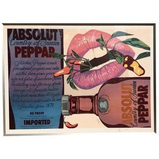 1989 Absolut Peppar Vodka Lithograph