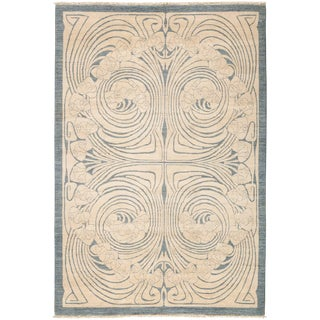 "Contemporary Hand Knotted Area Rug - 6'1"" X 8'10"""