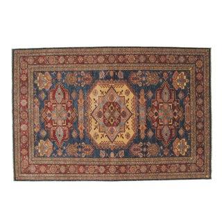 "Leon Banilivi Navy Kazak Carpet - 6'1"" X 9'1"""