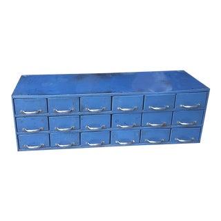 Vintage Industrial Blue Toolbox