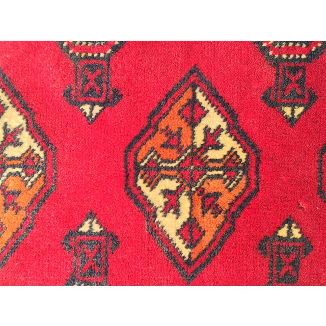 "Vintage Turkaman Red Persian Rug - 2'2"" x 2'9"" - Image 7 of 7"